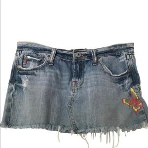 Miss Me Skirts - Miss Me destroyed denim skirt size S